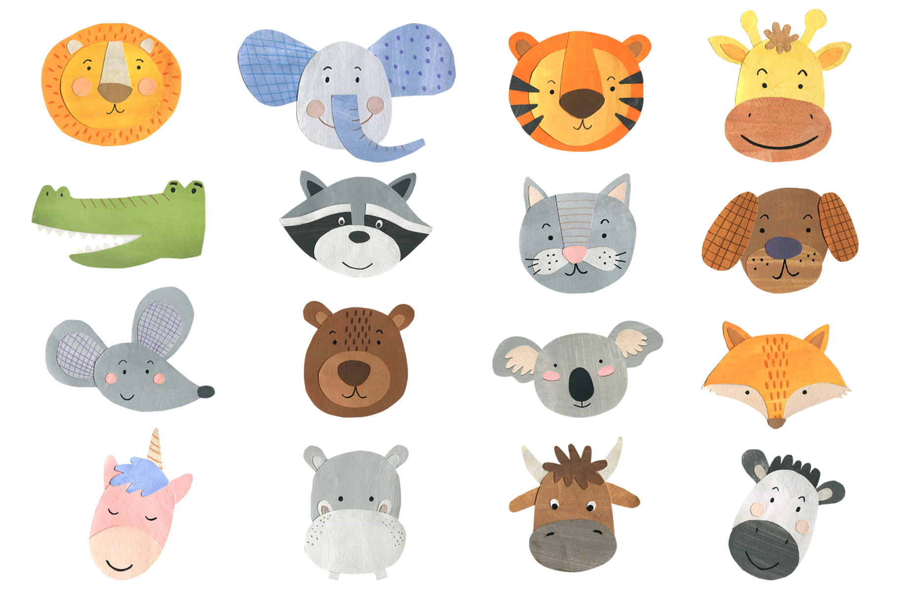 Papercut Animals Clipart example image 2