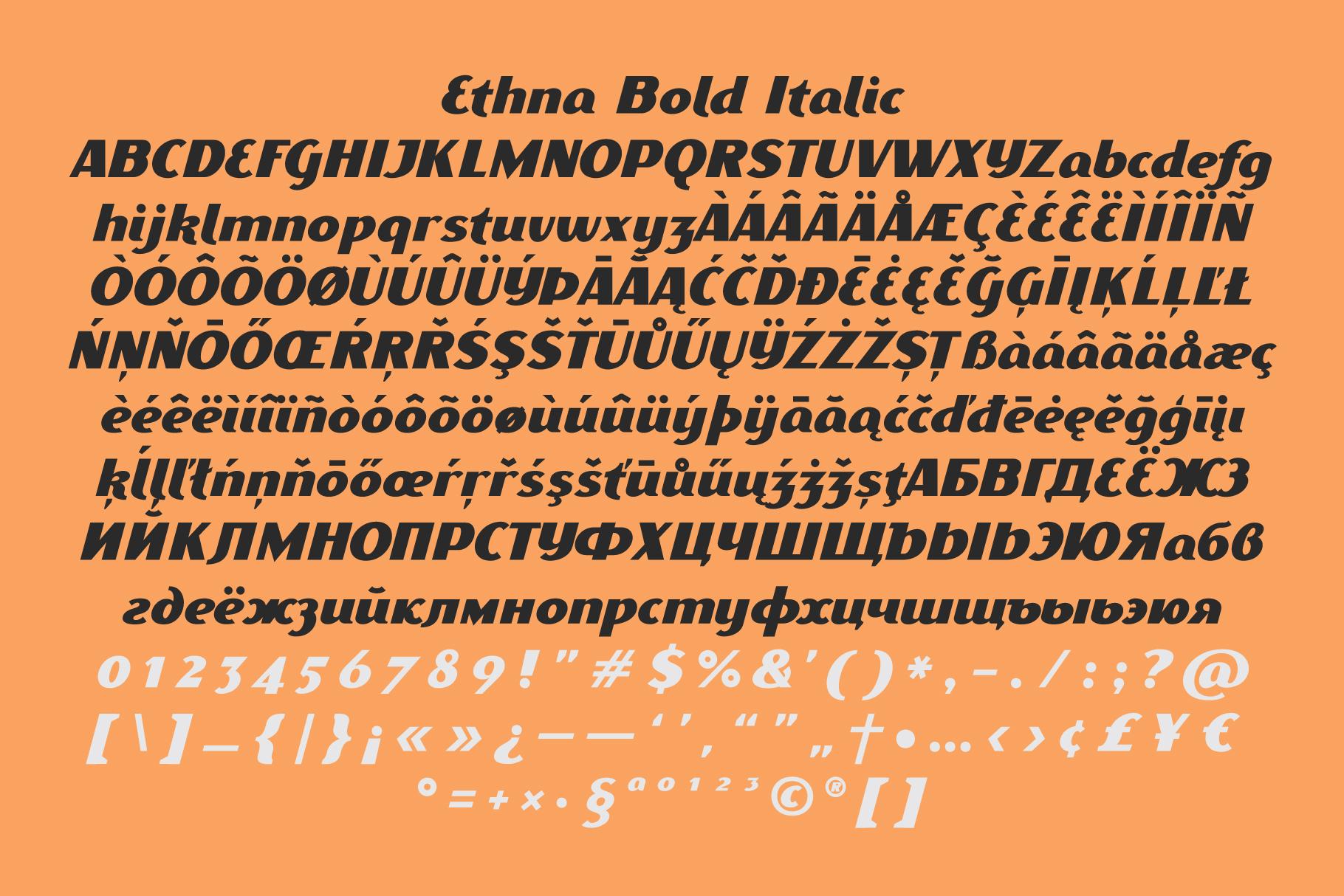 Ethna Italic example image 4
