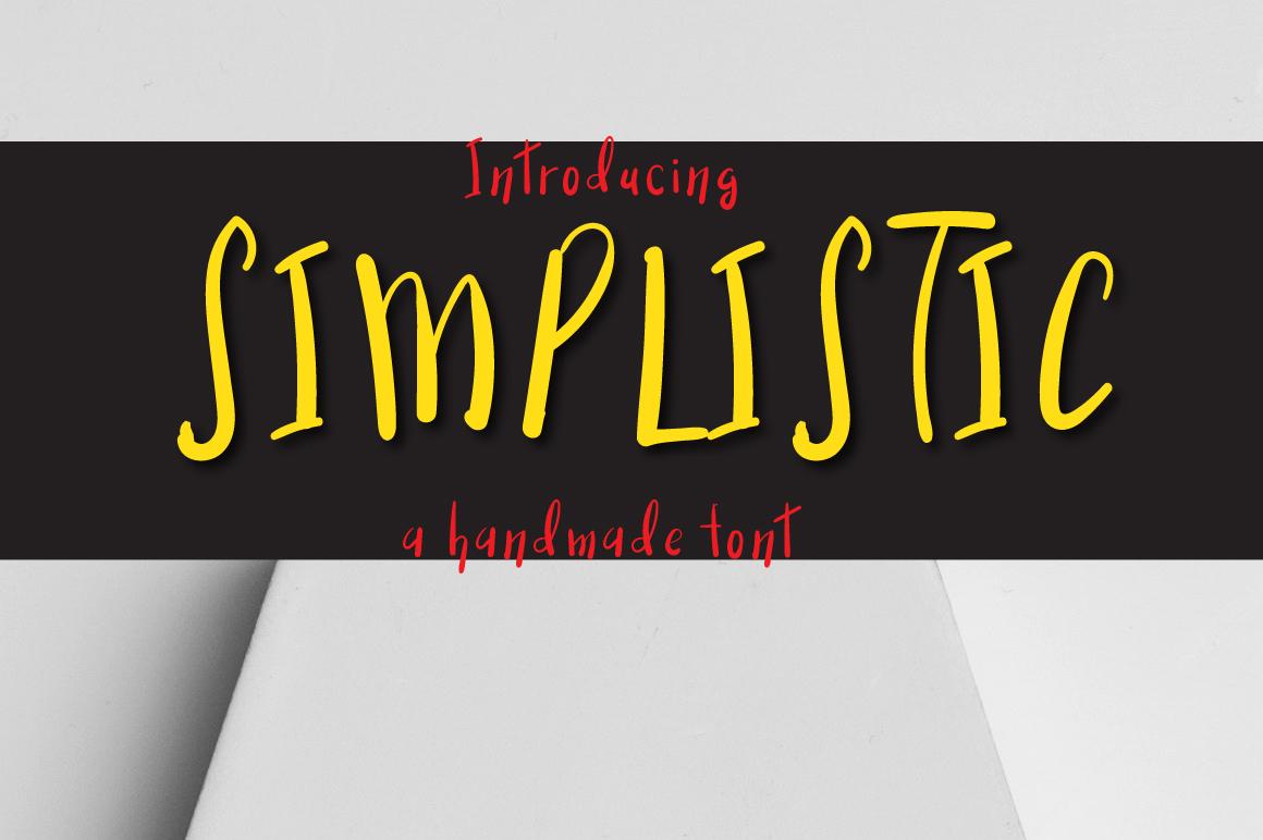 Simplistic Typeface example image 1