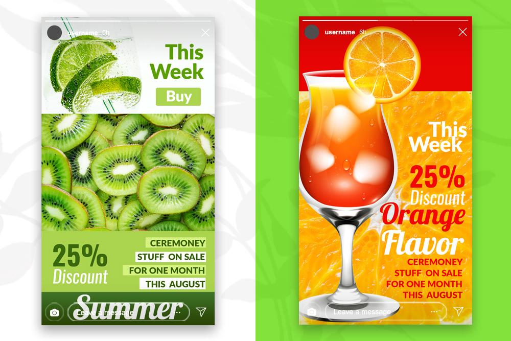 4 Instagram Stories - Summer Juice example image 2