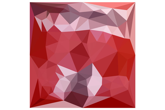 Pale Violet Red Abstract Low Polygon Background example image 1