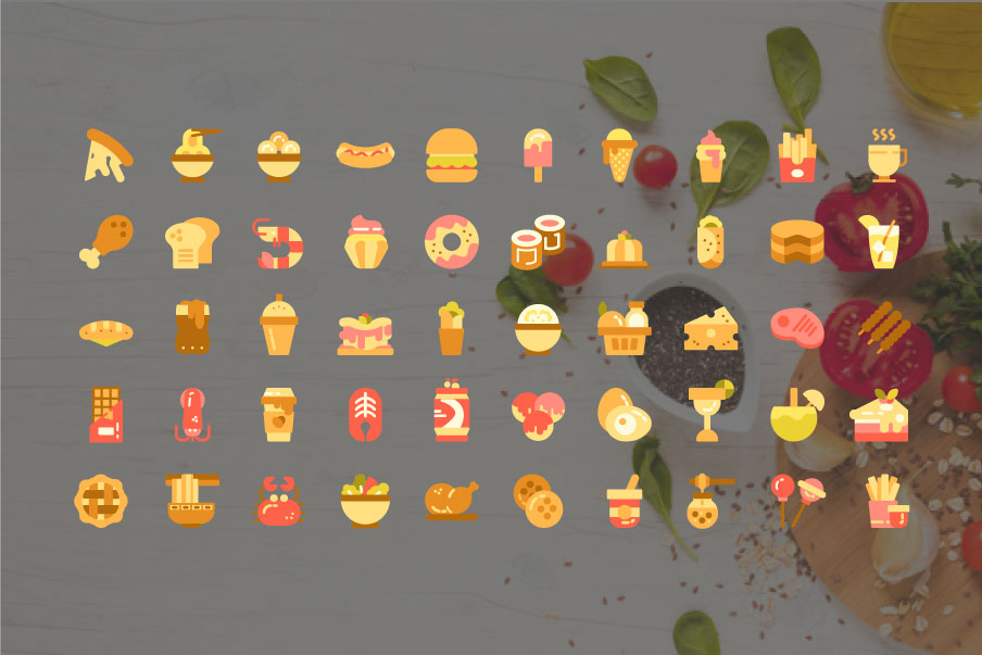 200 Food and Beverage Icon Pack example image 4