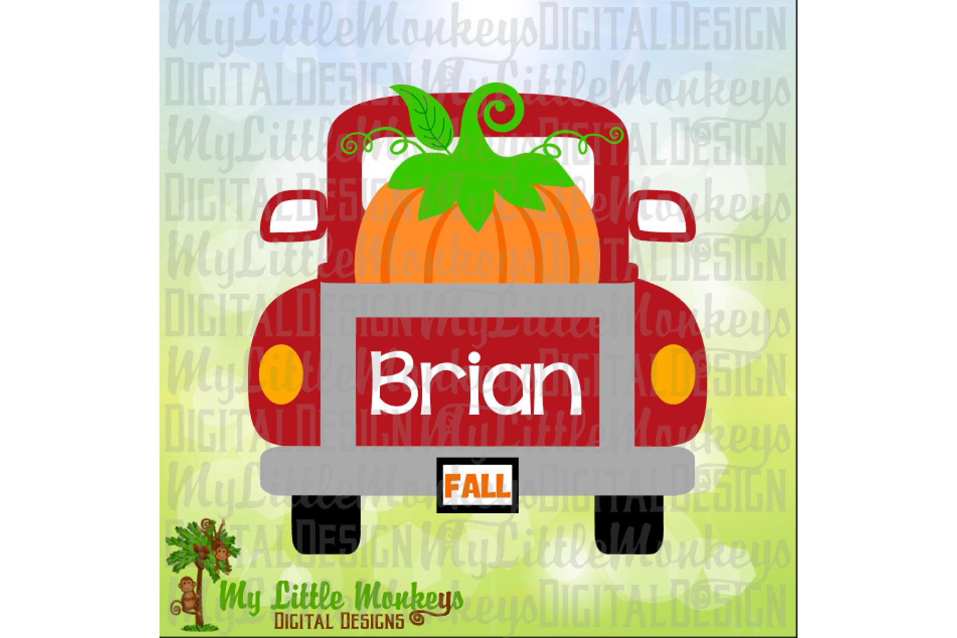 Vintage Truck Back Pumpkin example image 1