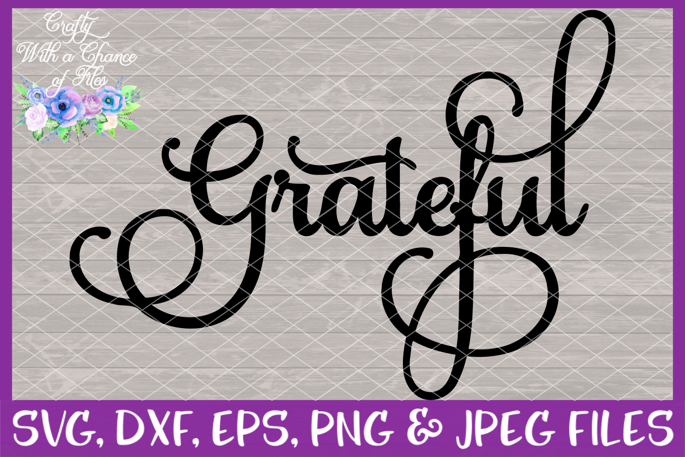 Thankful Grateful Blessed Give Thanks SVG - Thanksgiving example image 5