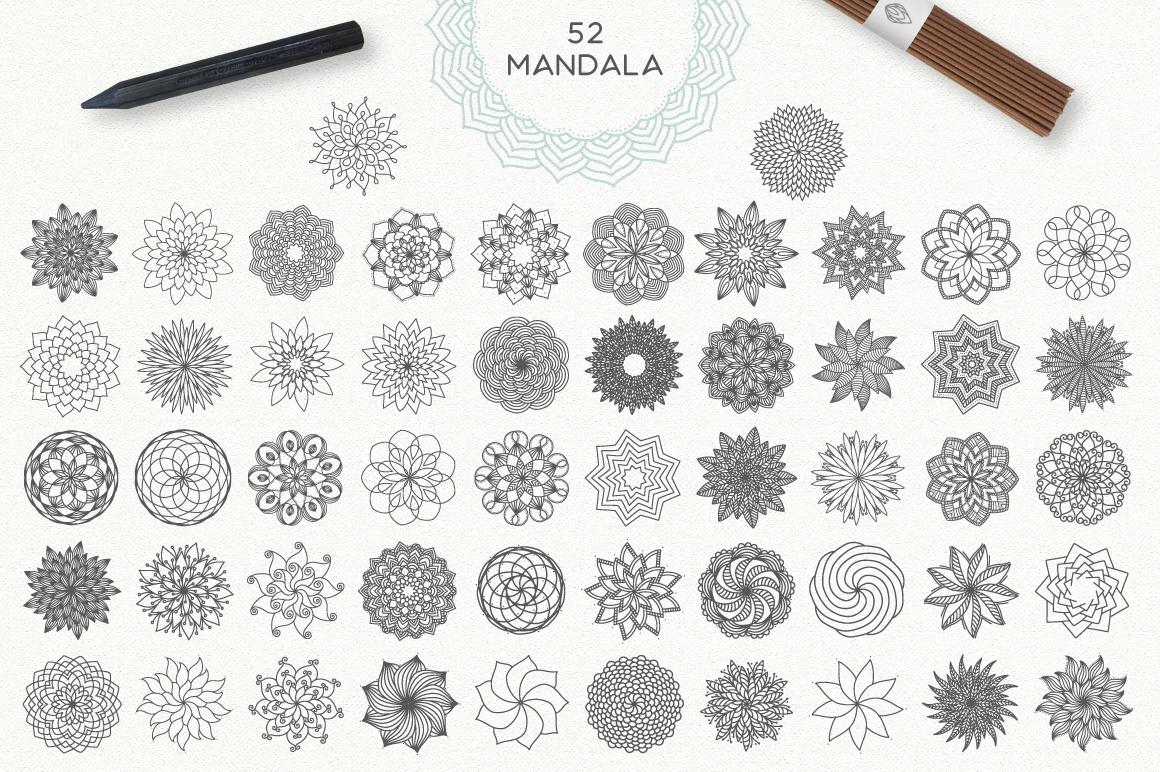 Mandala Collection [630 Elements] example image 5