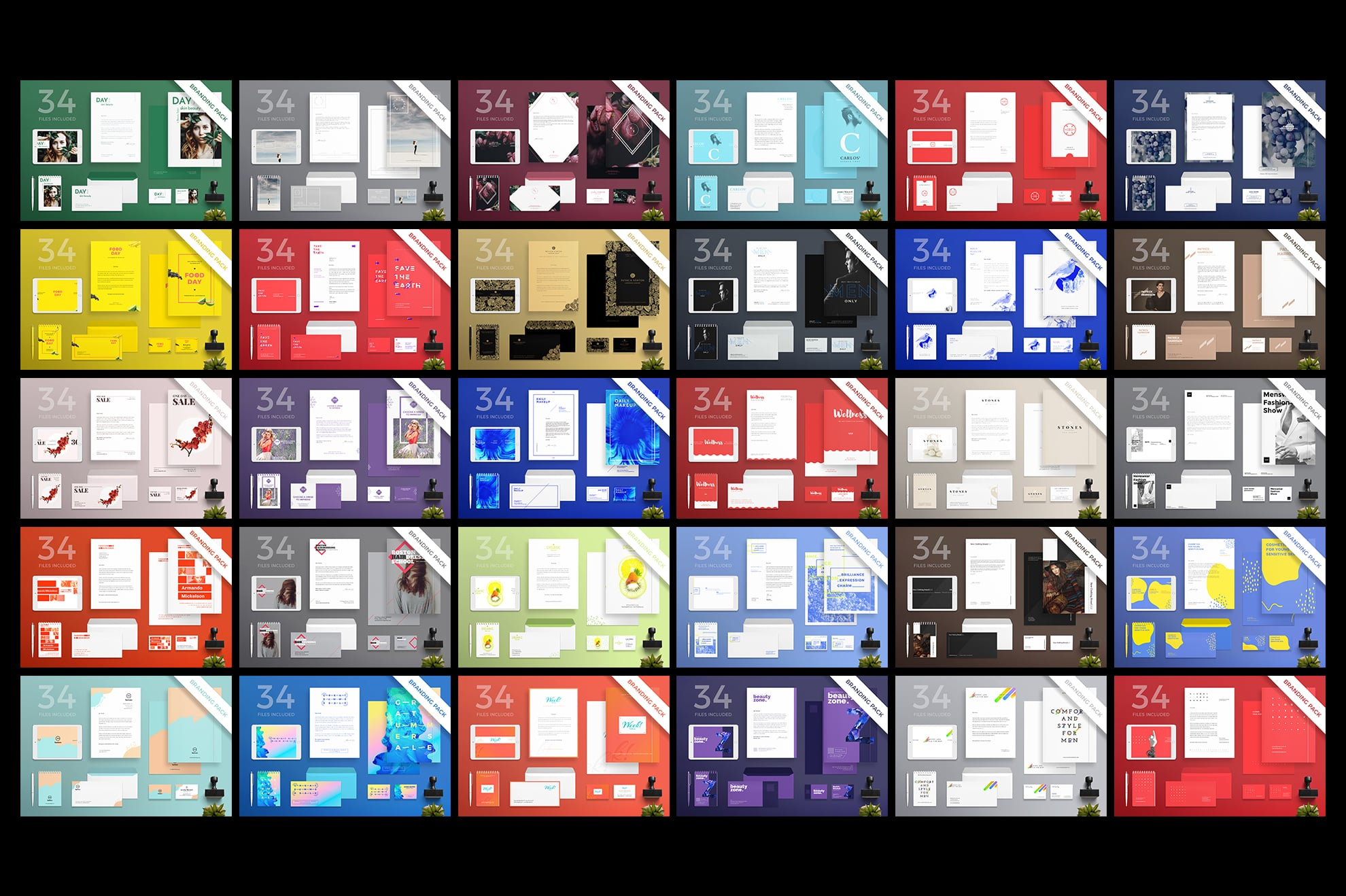 Brand Identity Design Templates Bundle SALE example image 5