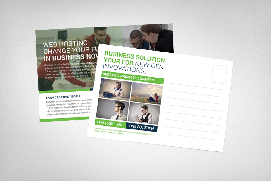Web Hosting Business Postcard example image 2