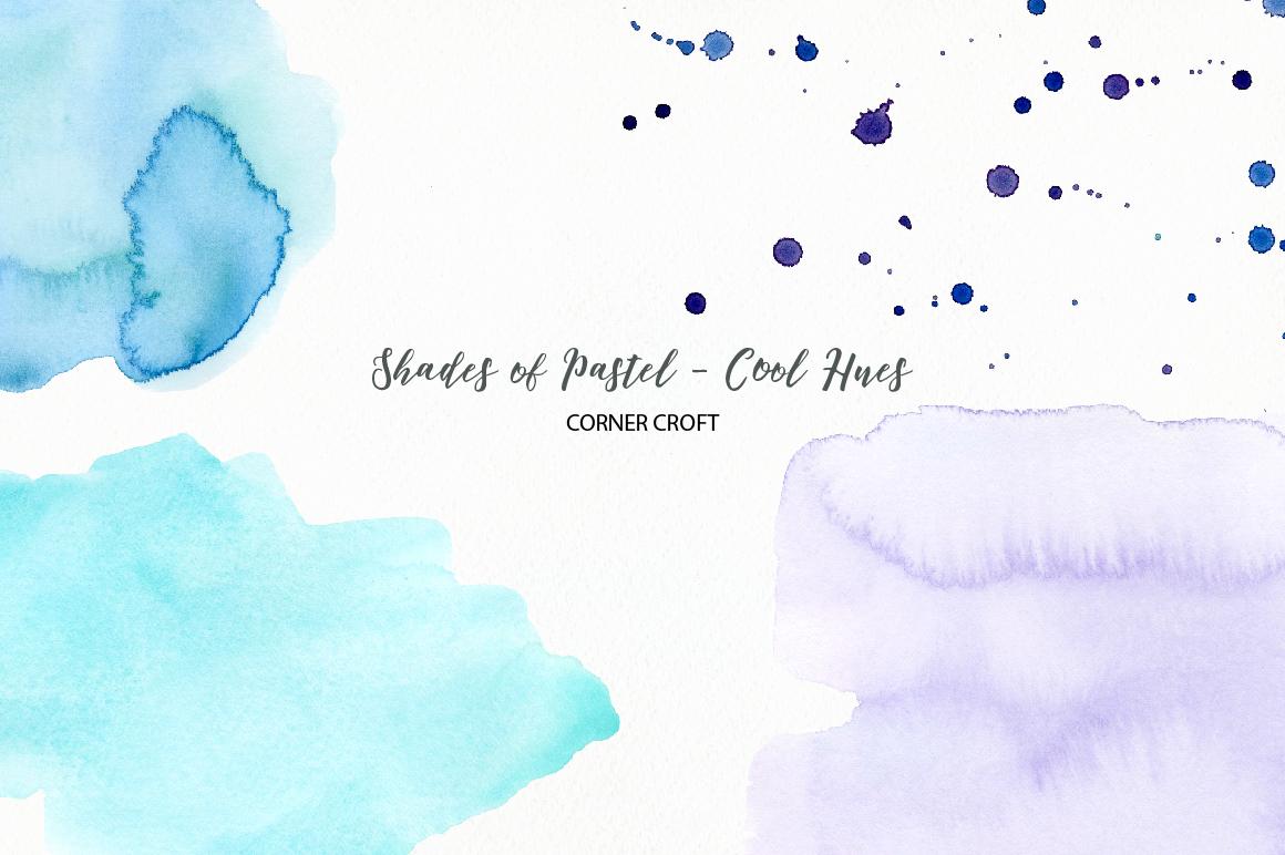 Shades of Pastel Cool Hues Watercolor Texture example image 5