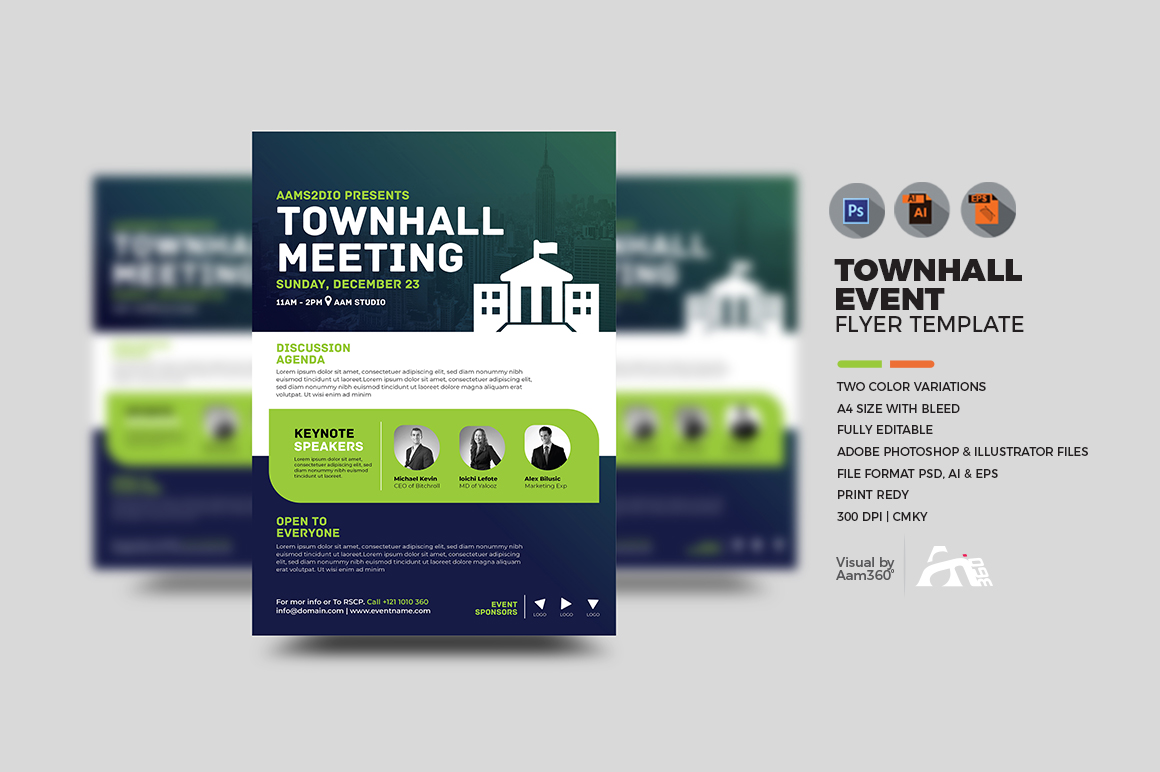 Townhall Event Flyer Template example image 1