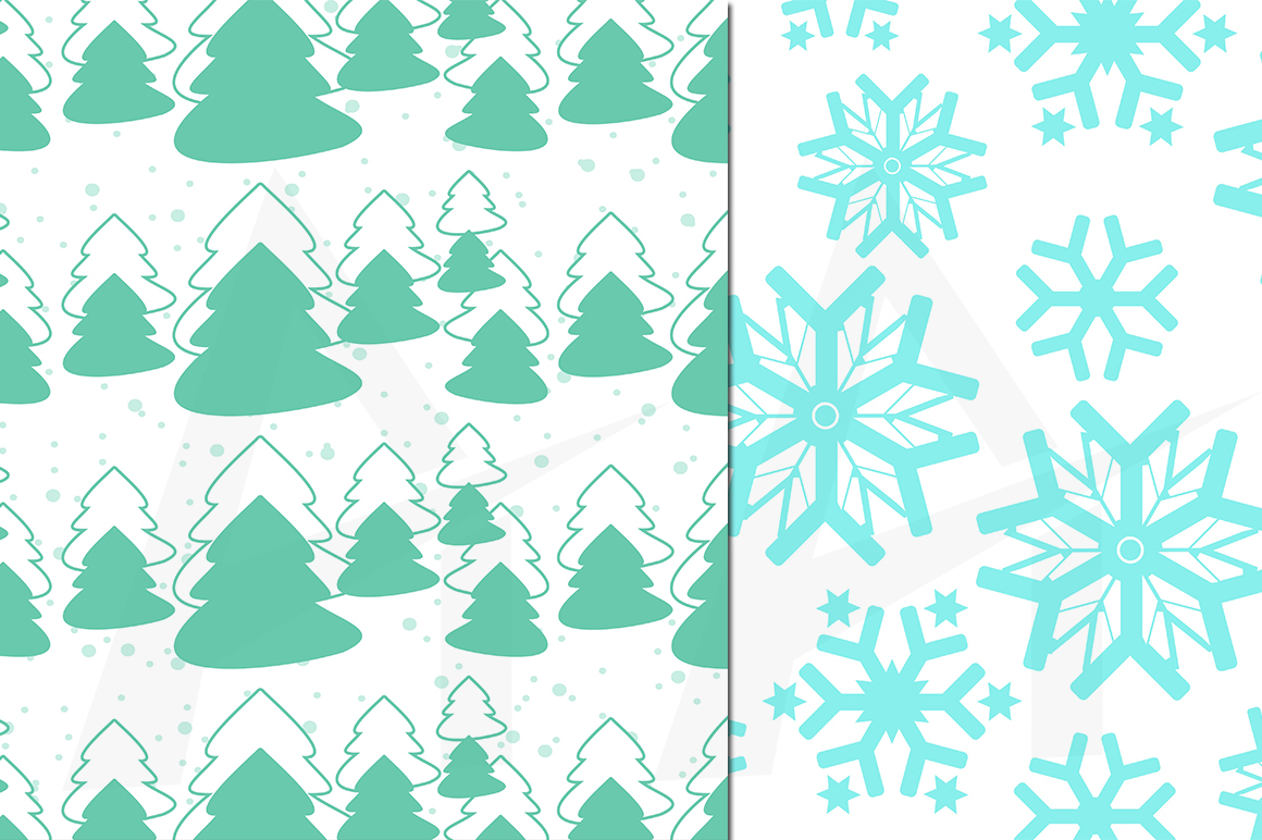 christmas digital papers, winter digital papers, christmas pattern, winter patterns, high quality 300 dpi, 12 x 12 inch , and 8.5 x 11 inch example image 2