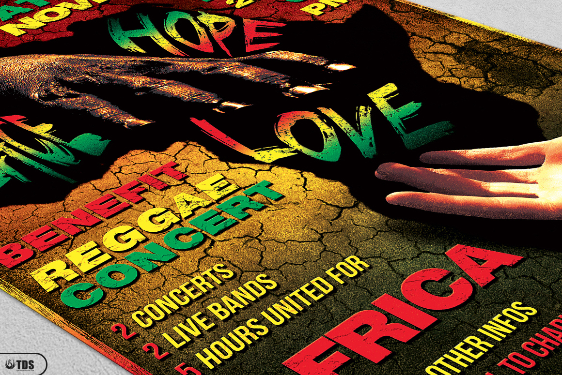 Reggae Africa United Flyer Template  example image 5