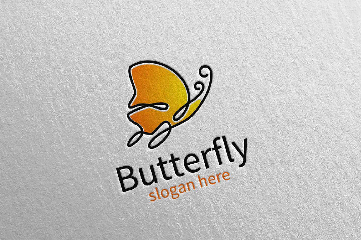 Butterfly Logo vol 17 example image 3