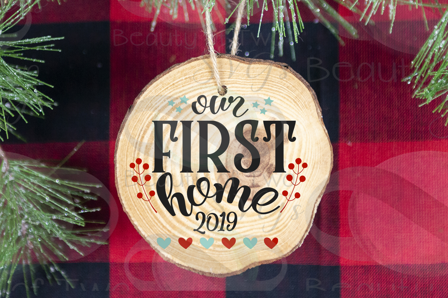 Christmas Ornament Our first Home 2019 svg, Realtor svg example image 3