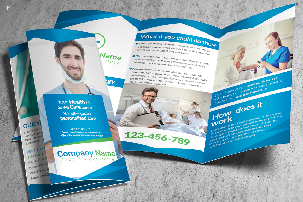 Health Care Trifold example image 2