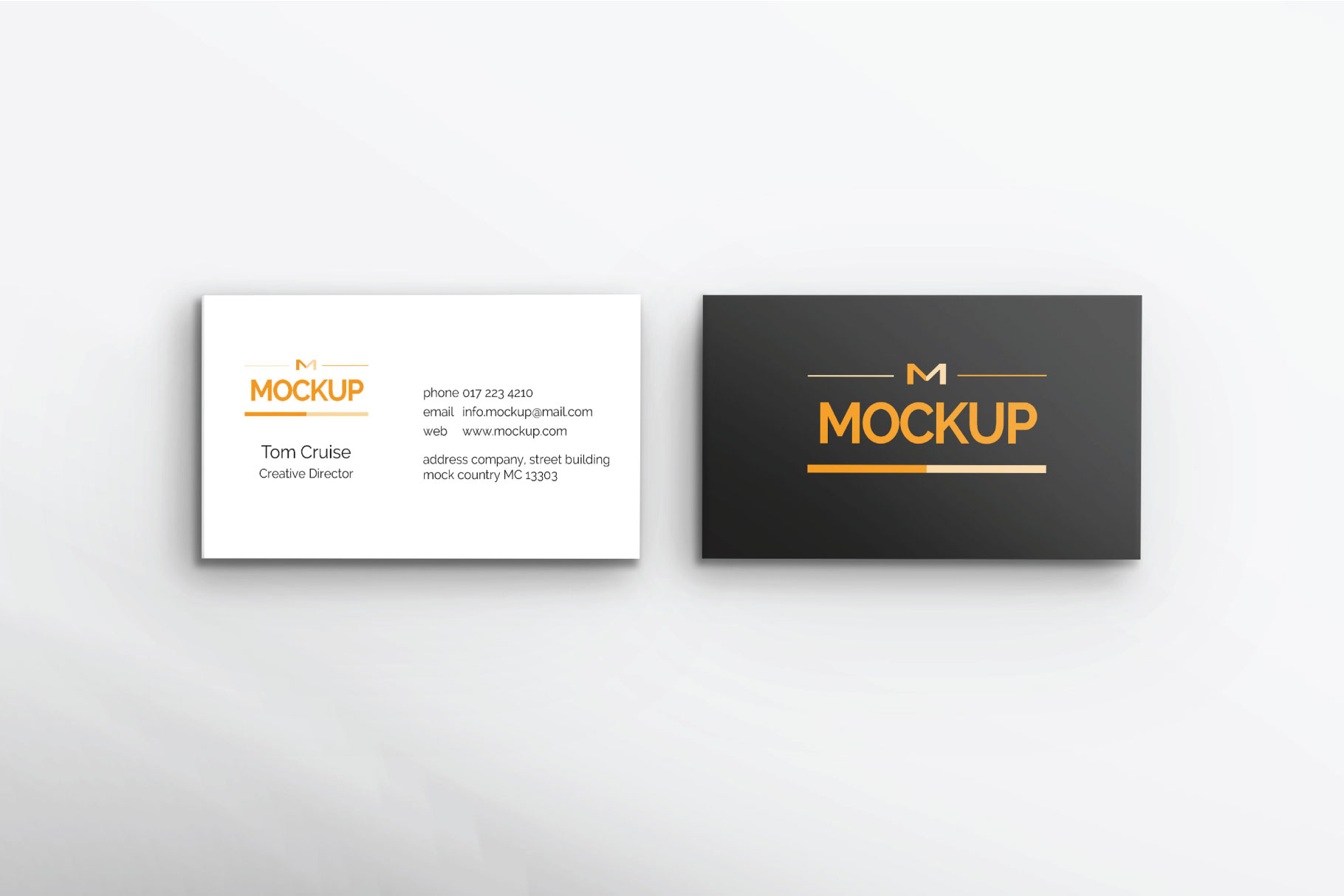 6 Style Business Card Mockups example image 8