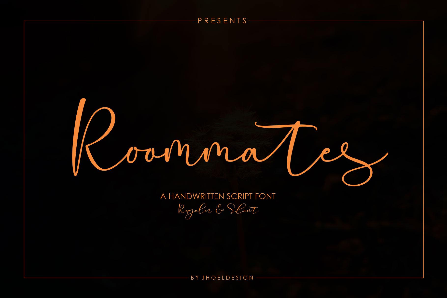 Roommates Script | Reguler & Slant example image 2