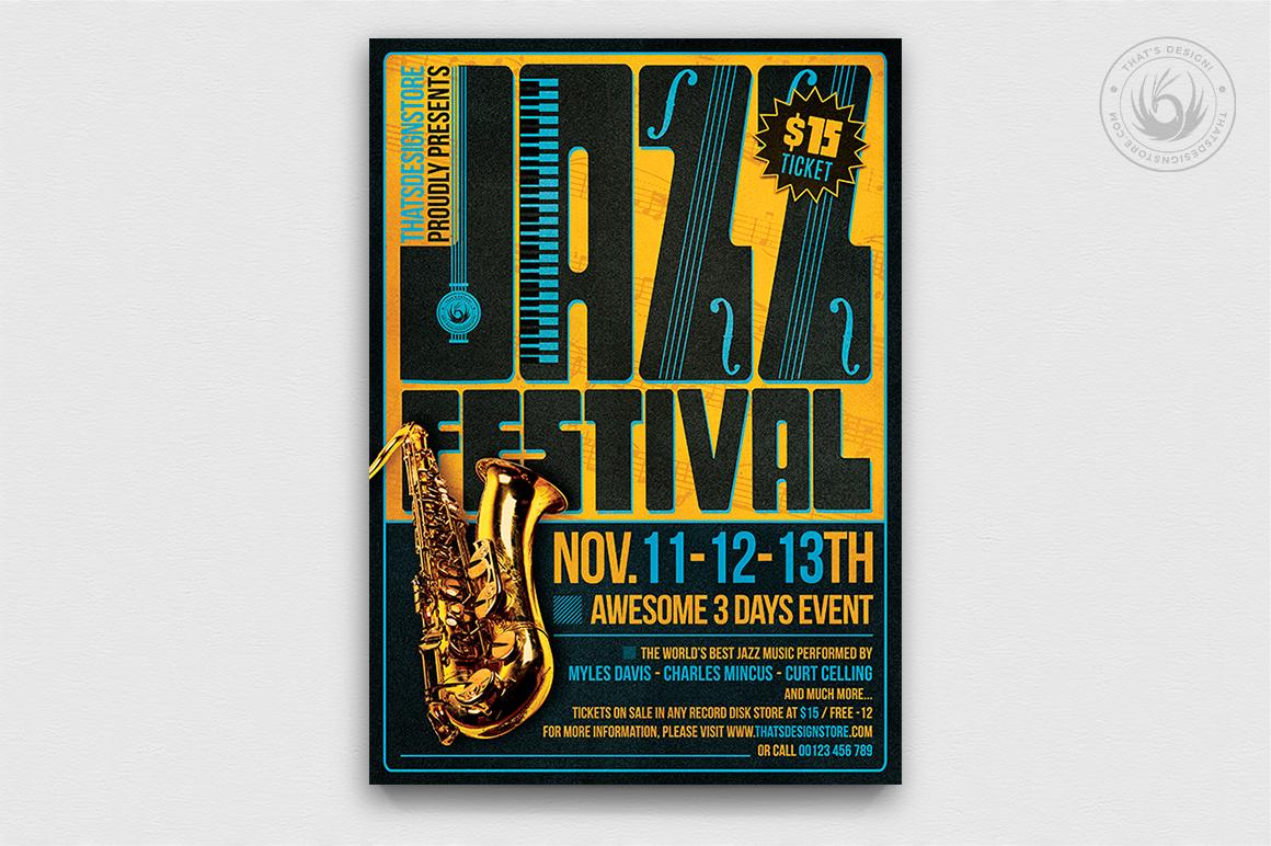 10 Jazz Festival Flyer Bundle example image 4