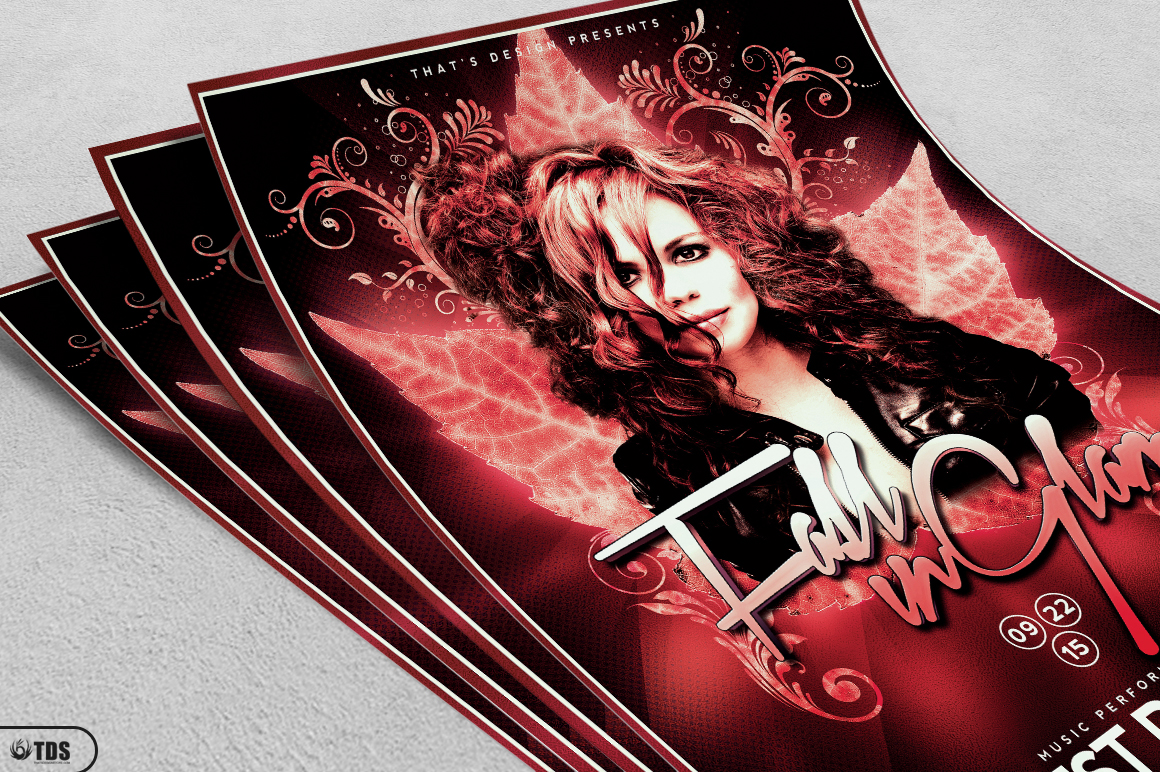 Fall in Glam Flyer Template V4 example image 5