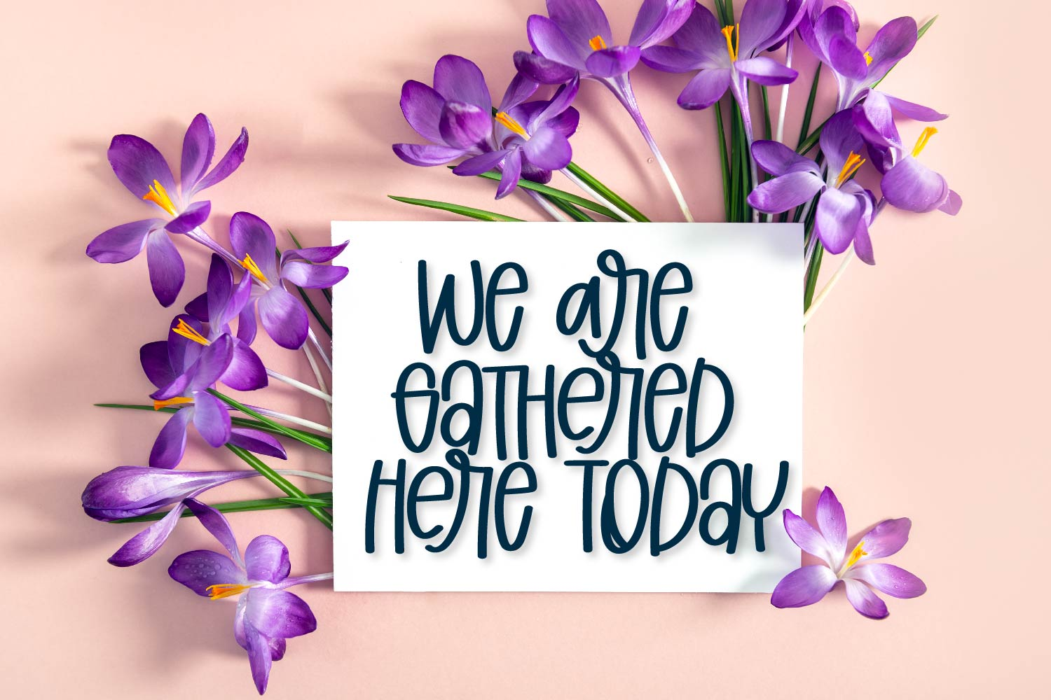 Yellow Flowers - A Hand Lettered Font example image 7