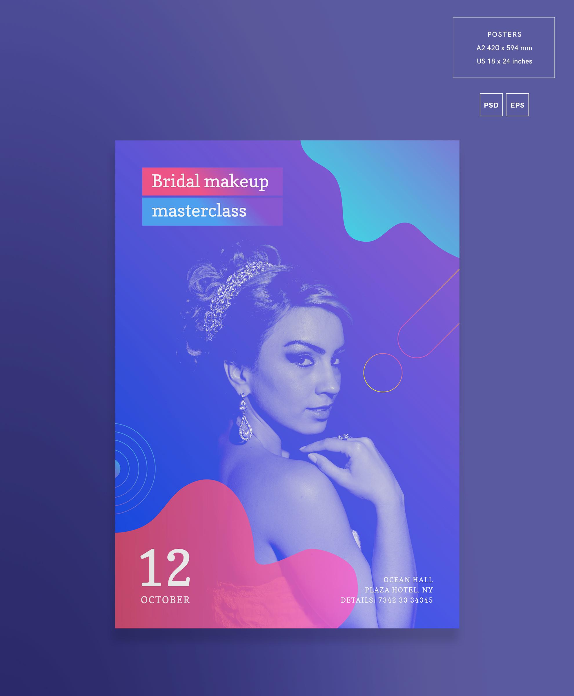 Bridal Makeup Masterclass Workout Design Templates Bundle example image 9