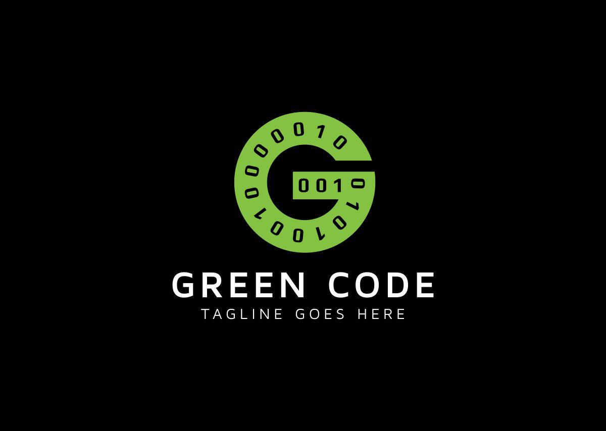 Green Code G Letter Logo example image 2