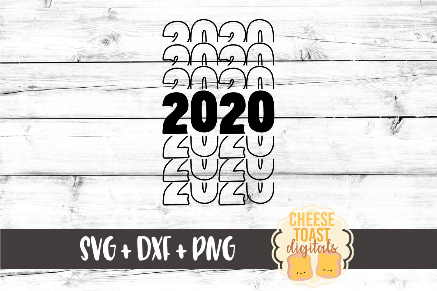 2020 Mirror Letter Design - New Year SVG PNG DXF Cut Files example image 2