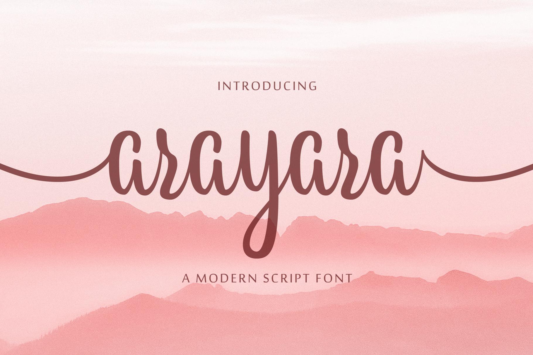 Arayara Script Font example image 1