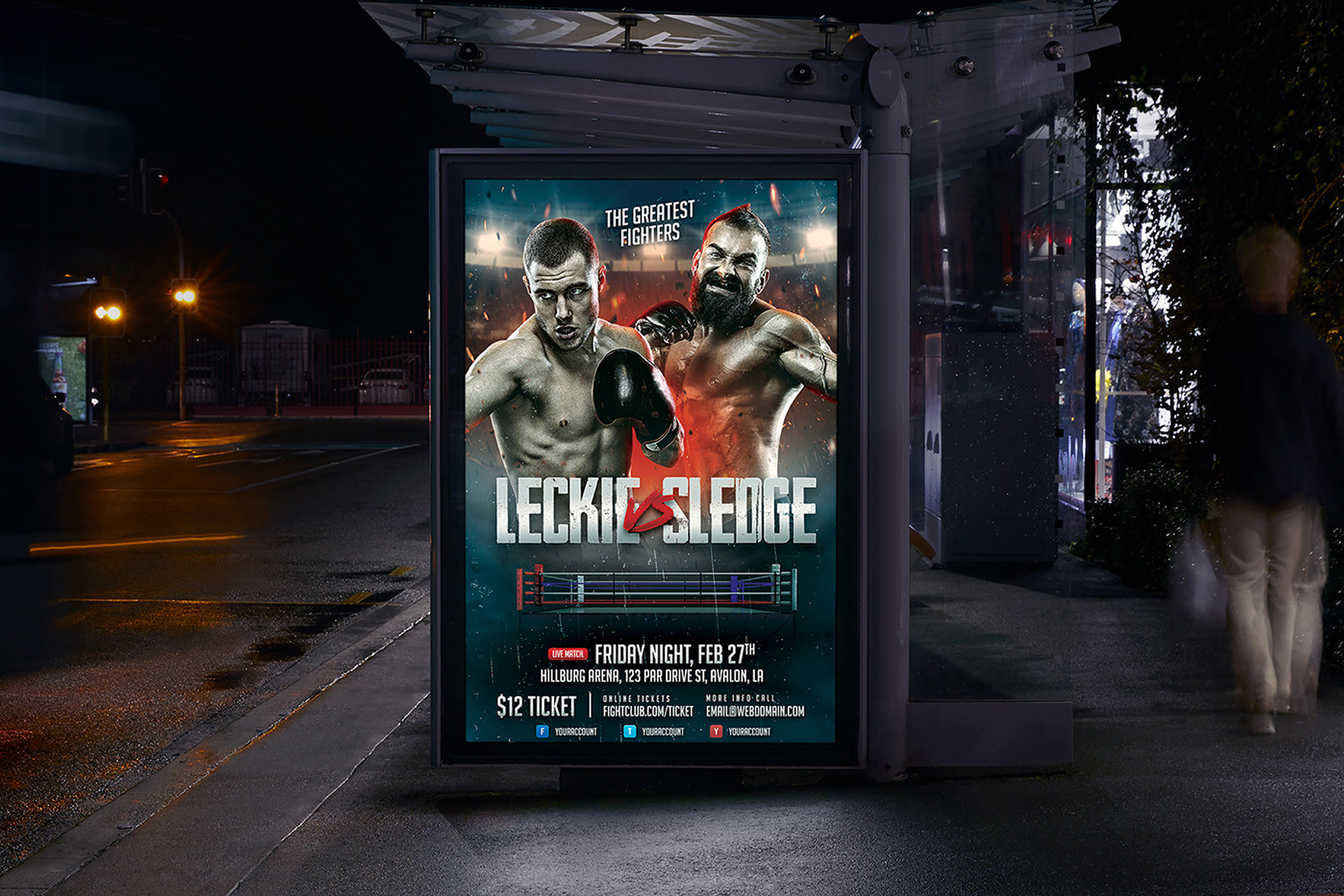 Boxing Flyer Template example image 3