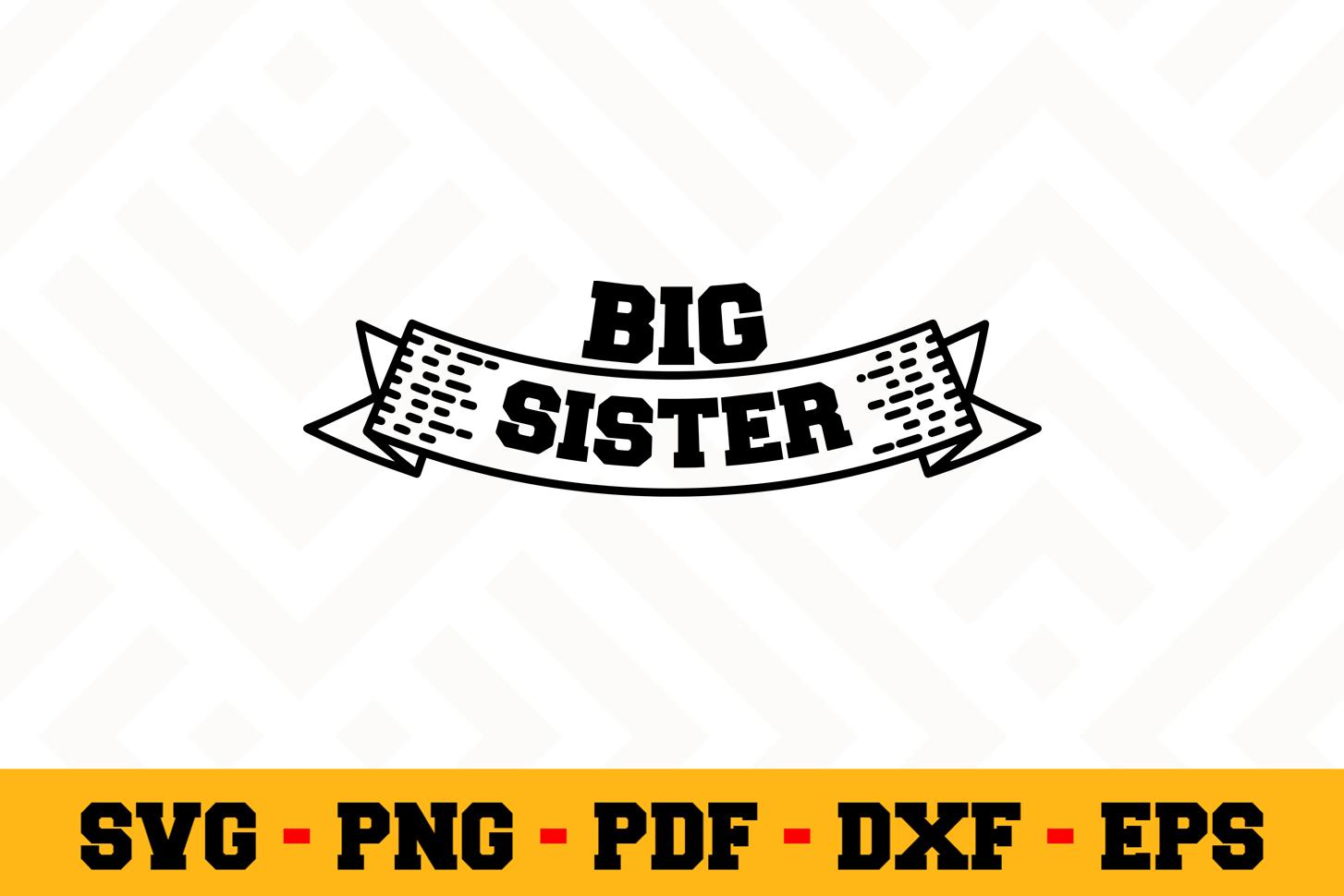 Sister SVG Design n516 | Sister SVG Cut File example image 1