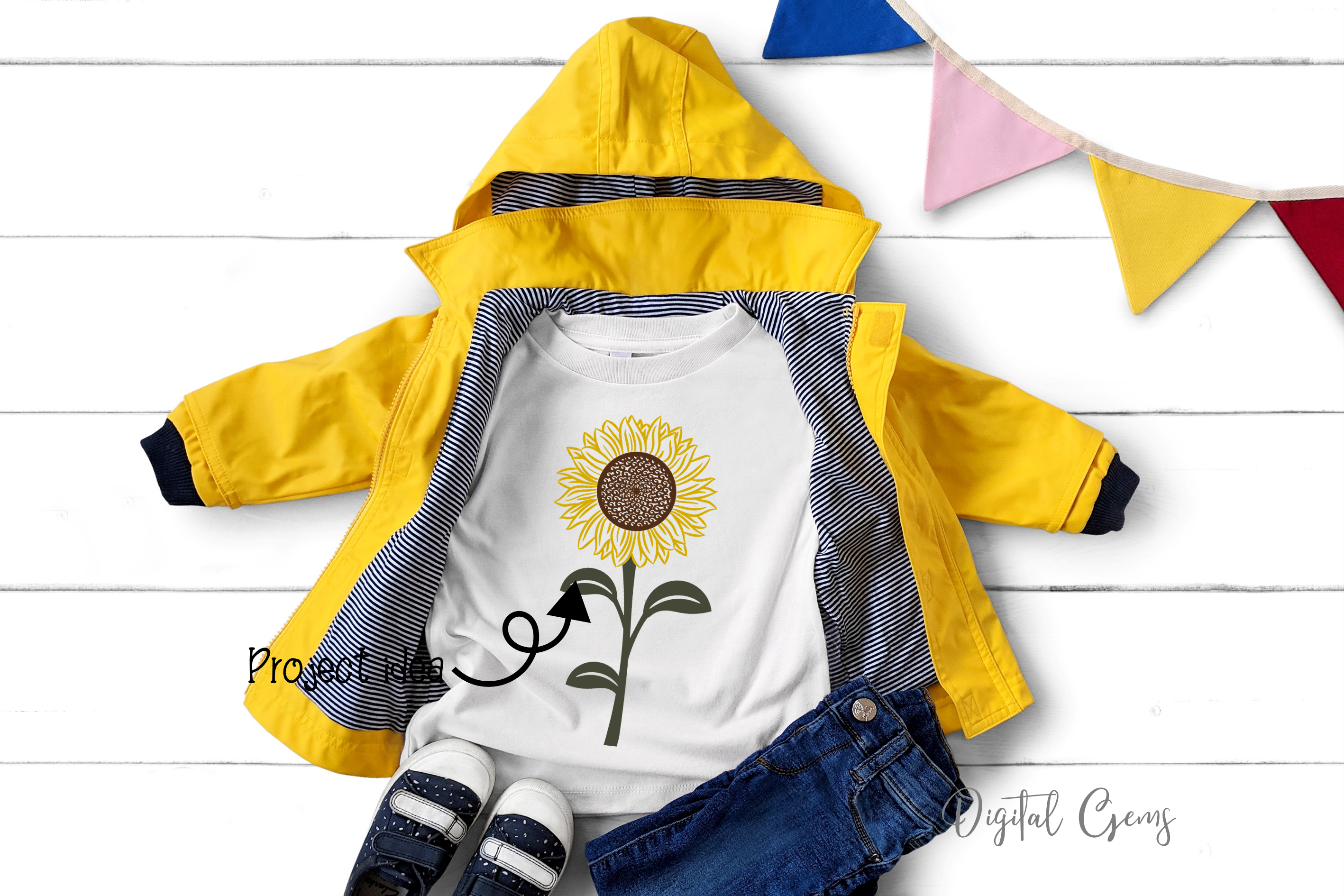 Sunflower designs SVG / PNG / EPS / DXF Files example image 5