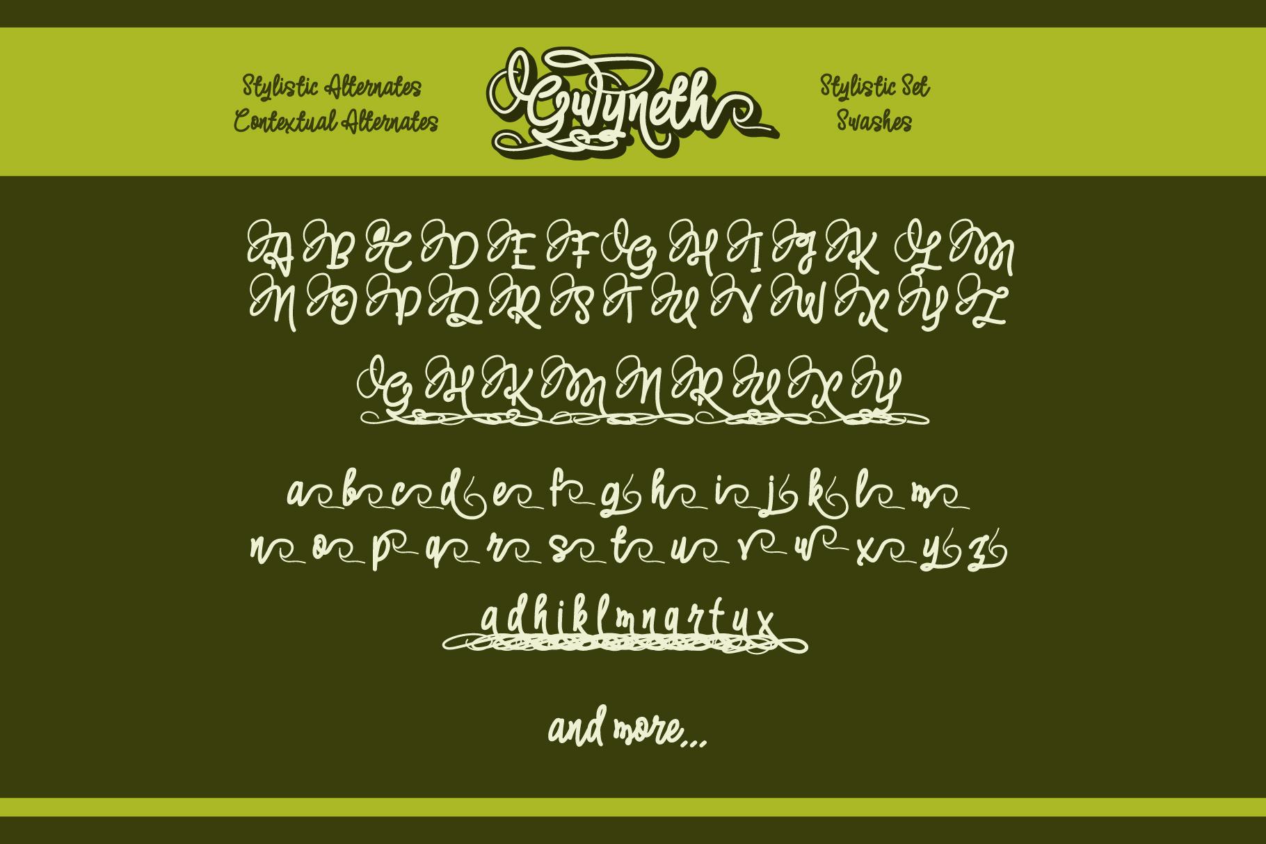 Gwyneth | modern script layered example image 3