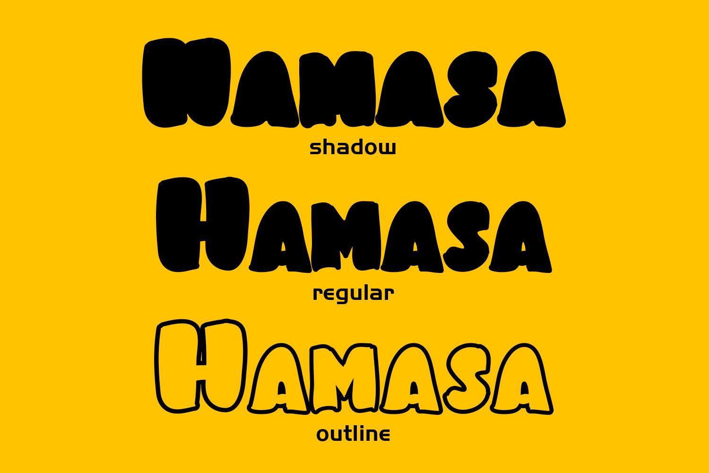 Hamasa Fun Display Font example image 2