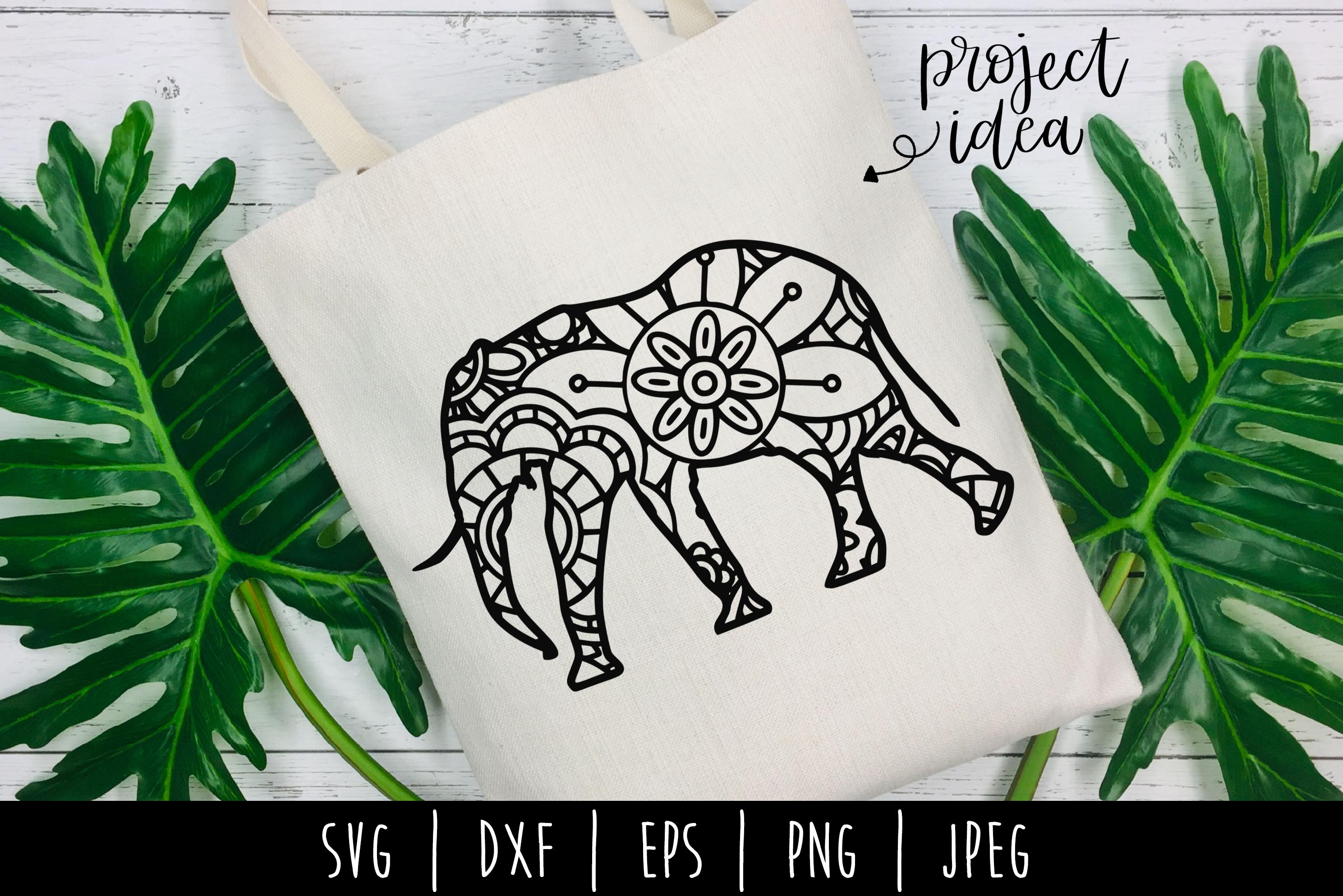 Elephant Mandala Zentangle Bundle Set of 4 - SVG example image 5