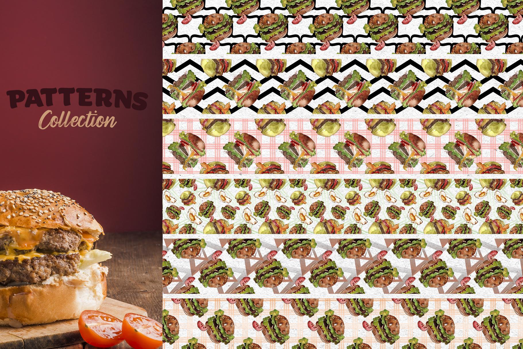 Hamburger Watercolor png example image 7