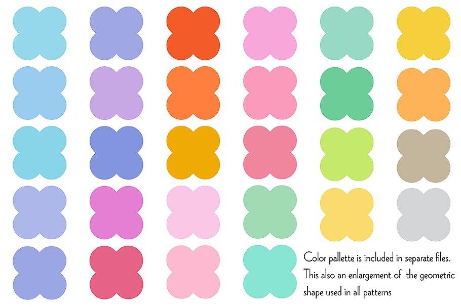 Small Seamless Geometric Patterns example image 5