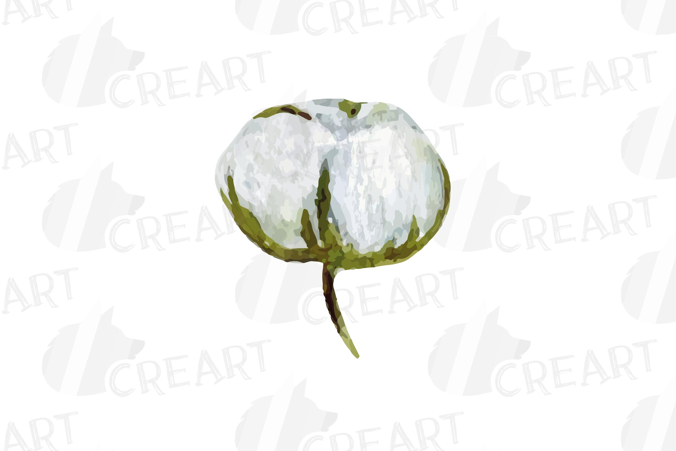 Cotton bolls and fir branch leafy autumn and winter decor example image 15