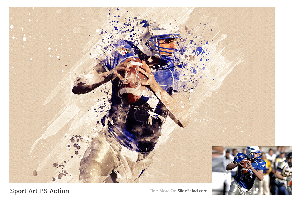 Sports Modern Art Photoshop Action example image 2