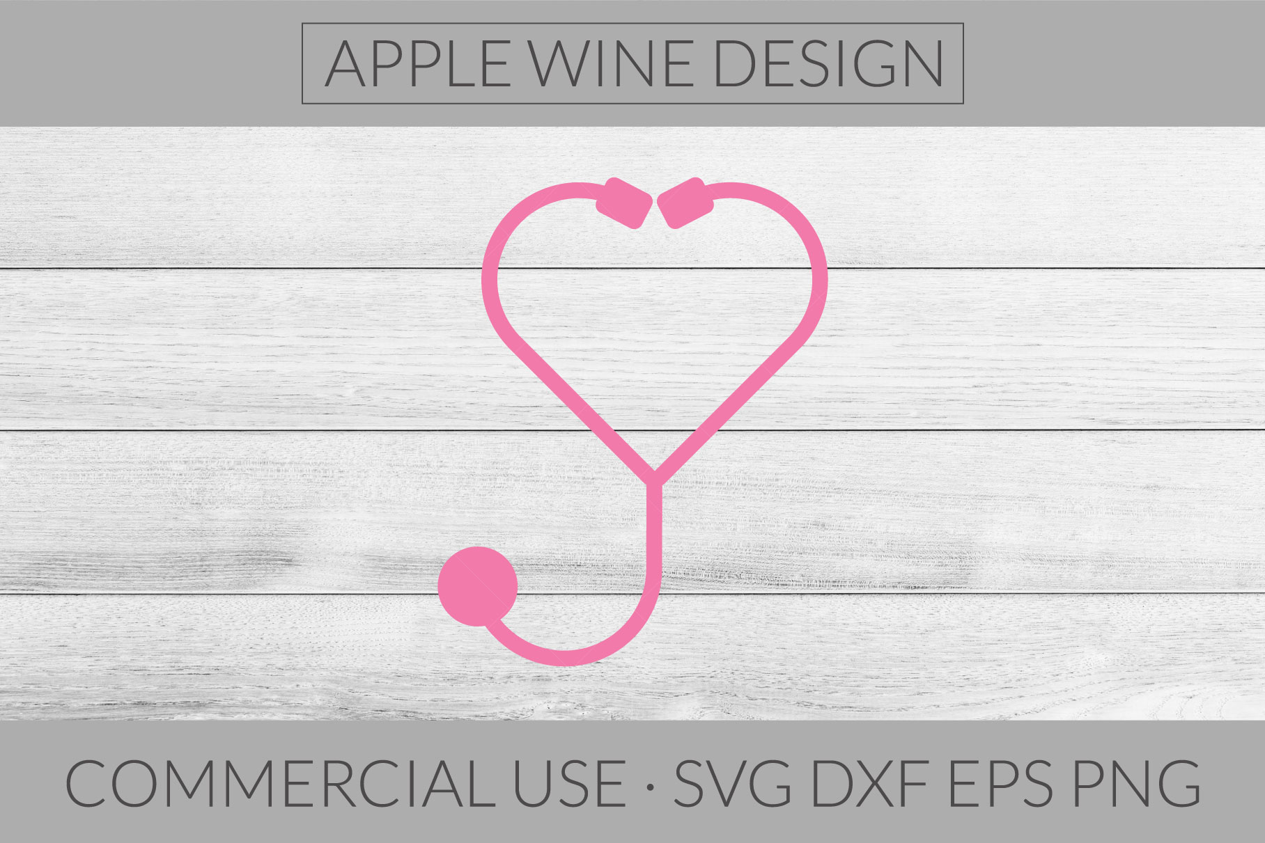 Stethoscope SVG DXF PNG EPS Cutting File example image 1
