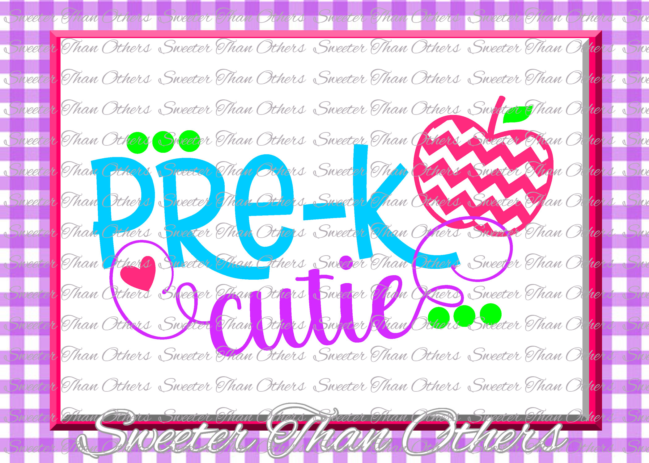 Pre K Cutie SVG Pre Kindergarten cut file Last Day example image 1