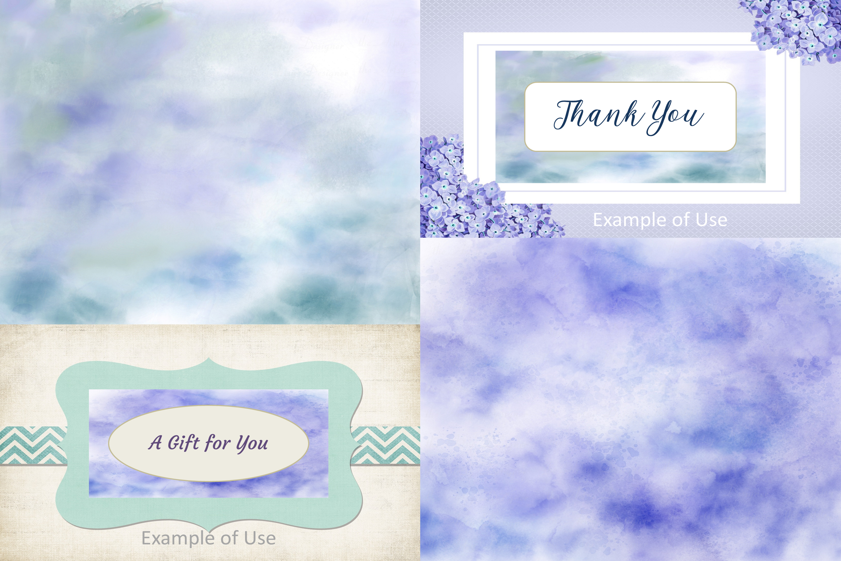 10 Background Digital Watercolor Dreams Texture Papers Pack example image 5