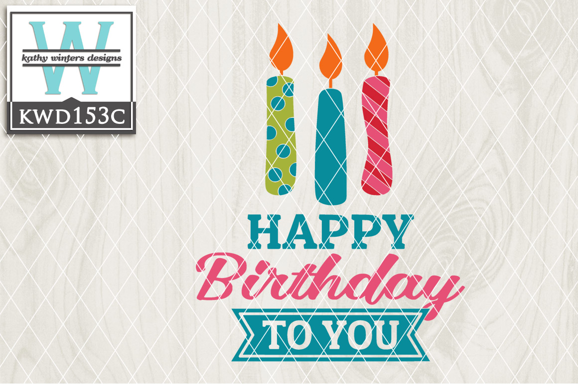 Birthday Cutting File KWD153C example image 1