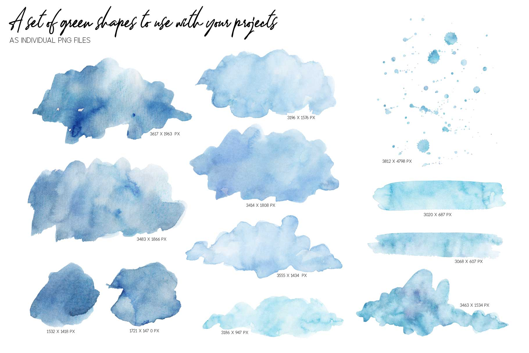 20 Huge Seamless Blue Watercolor Textures example image 11