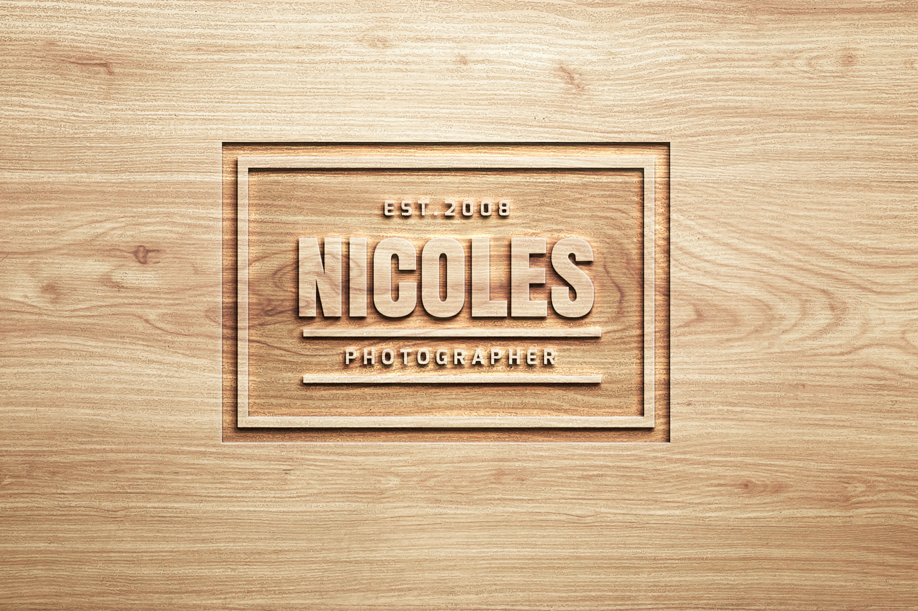Logo Mock Ups  Wood Set example image 10
