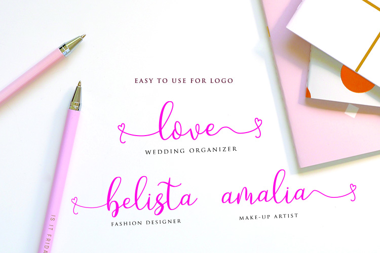 Loveyou - Romantic Font example image 5