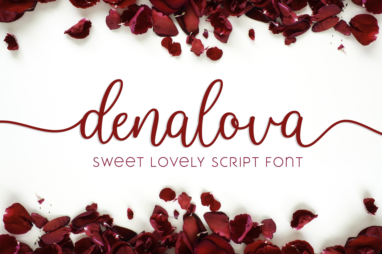 Denalova - Lovely Script example image 1