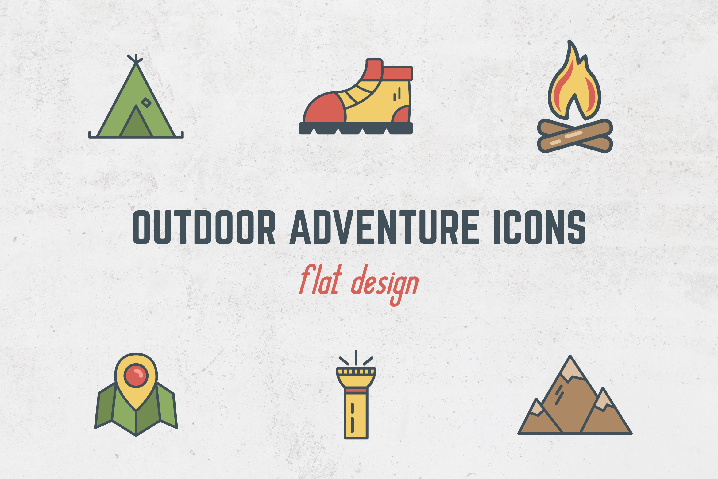 Camping Flat Icons example image 1