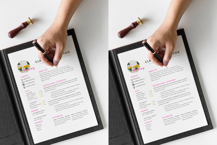 4 Sheets Canva Resume and CV Template Modern Professional example image 2