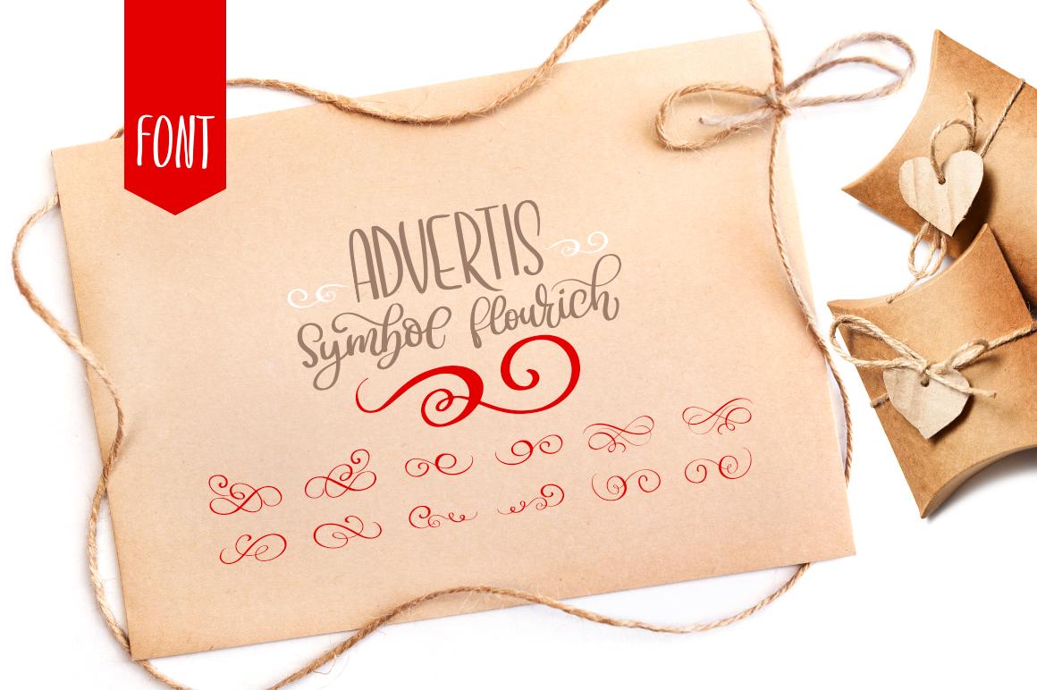 Advertis Ornament Flourish Font example image 1