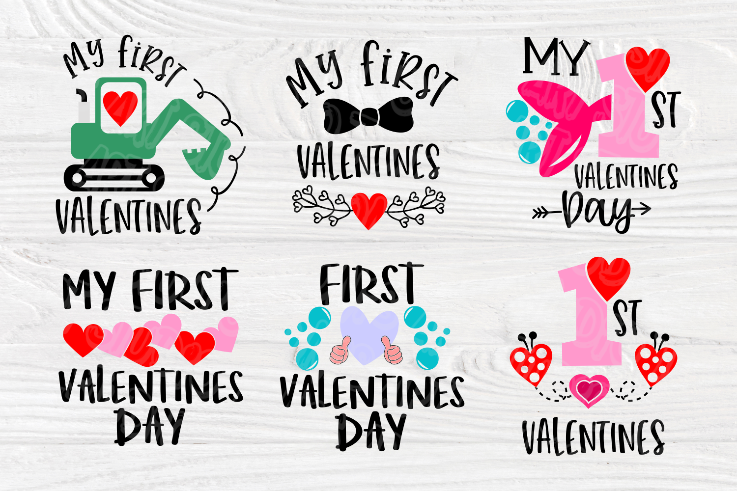 My First Valentine's Day | SVG Bundle | Valentines Quotes example image 4