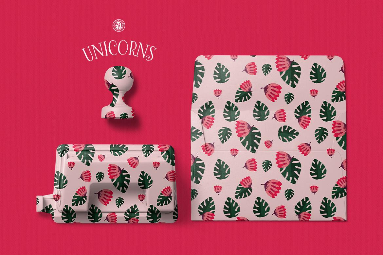 Unicorns - illustrations and patterns example image 4